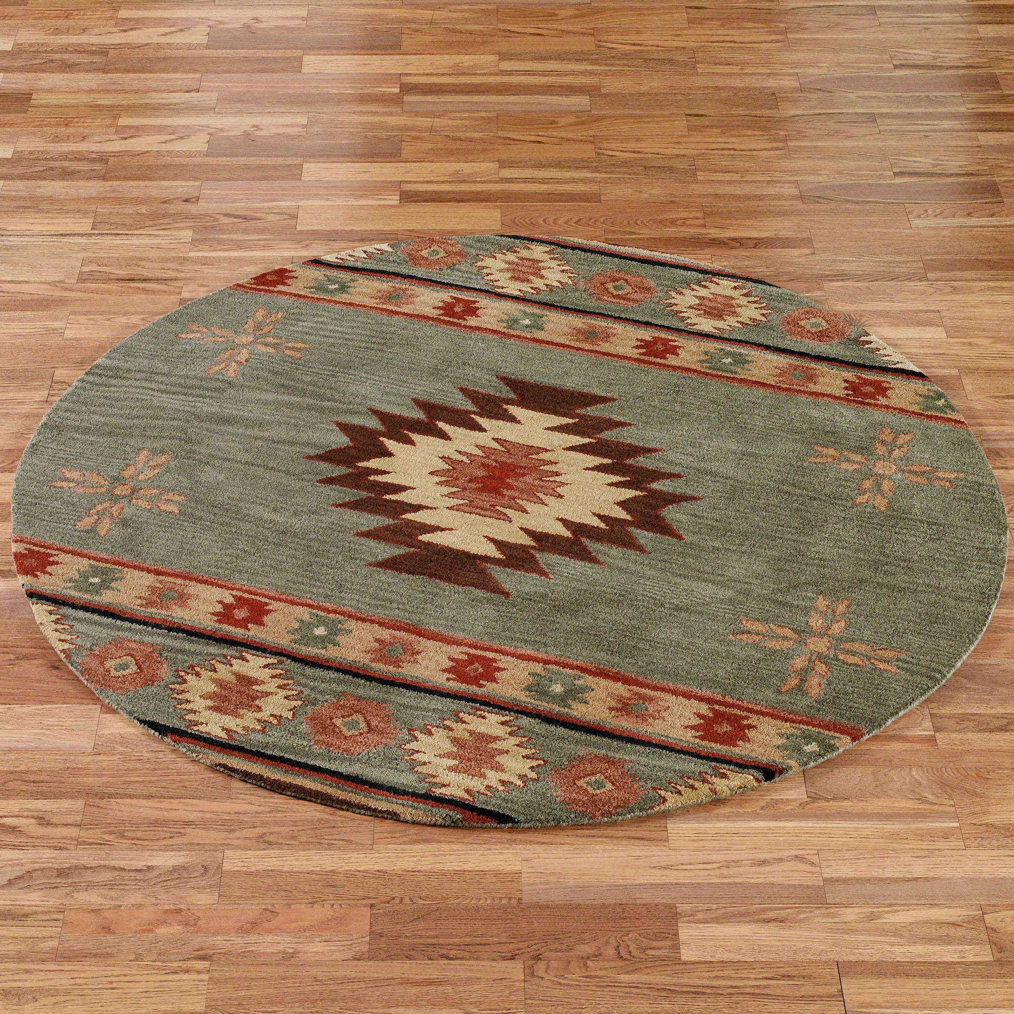 southwestern rugs southwest diamond round rug WBSXUGR