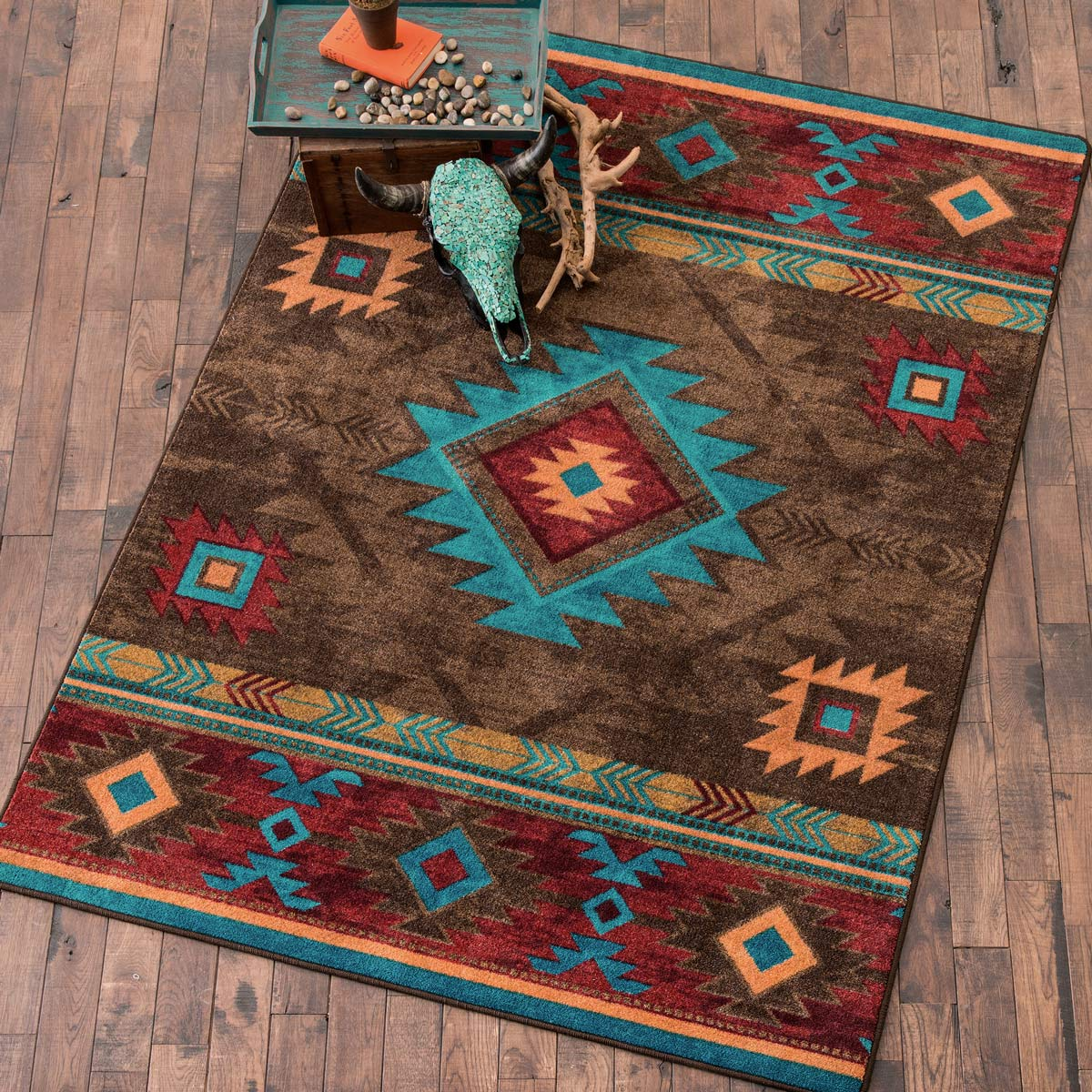southwestern rugs southwest rugs: 3 x 4 whiskey river turquoise rug|lone star western decor NIFLDDV