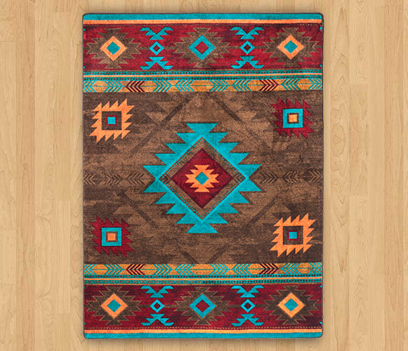 southwestern rugs whiskey river - turquoise ... PMLHYUZ