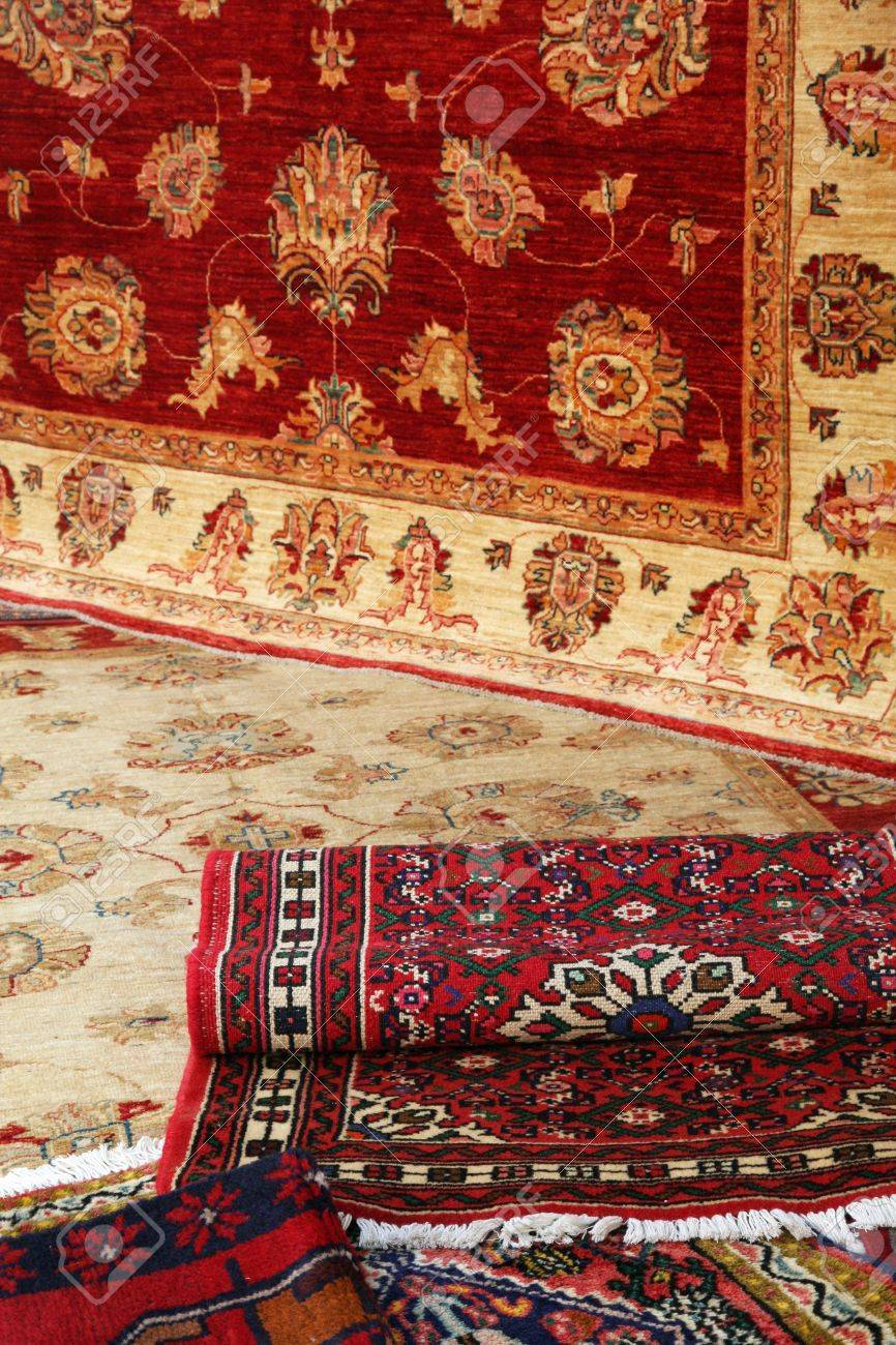stock photo - textures and background of handmade carpets and rugs MIEXKIH