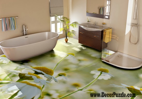 stylish bathroom floor 3d bathroom floor murals designs, floral self-leveling floors for bathroom  flooring ideas CNFKRVM