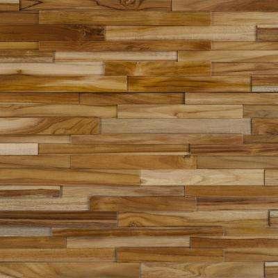 teak flooring take home sample - deco strips cider engineered hardwood wall strips - 5 YPDBXMS