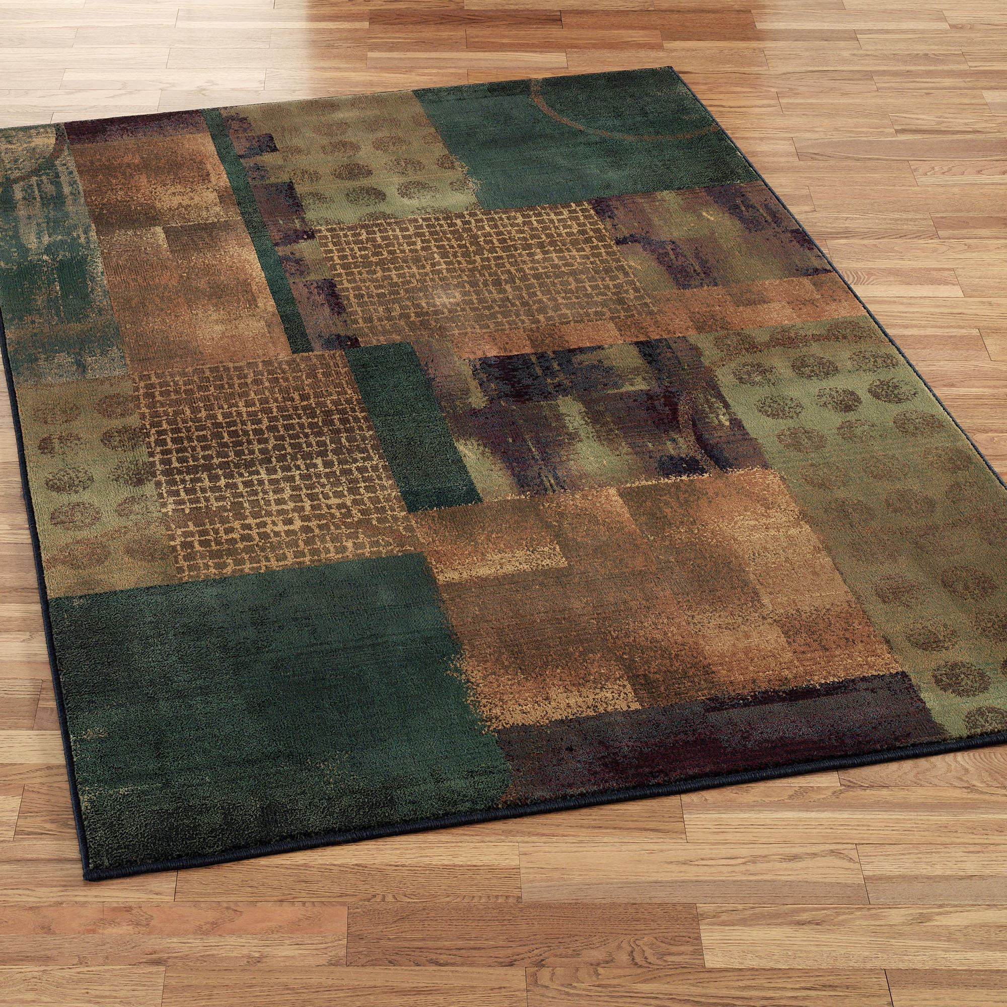 throw rug contempo block rectangle rug teal blue NFPUBDW