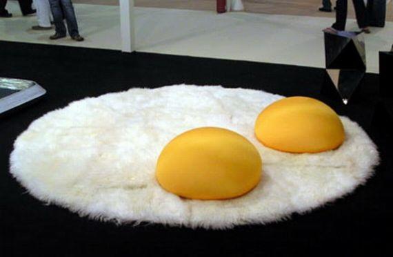 throw rug i prefer my throw rugs sunny side up SFSMCLJ