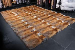throw rug image is loading 1560-canadian-redfox-carpet-genuine-fur-rug-red- BZQEMHX