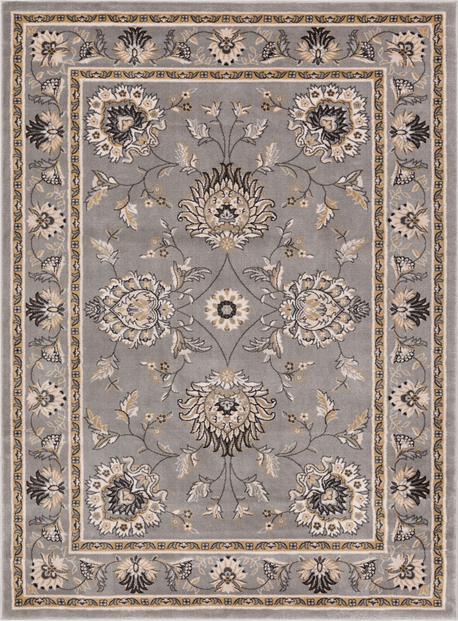 traditional rugs abbasi grey traditional rug OOLZYHO