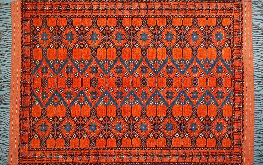 tribal rug ersari turkman QPNPULL