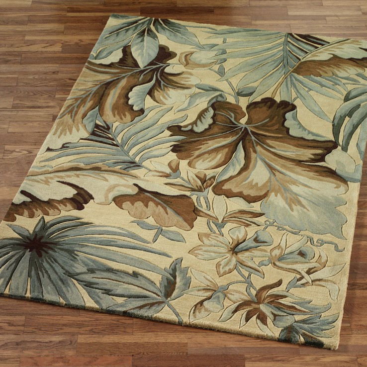 tropical area rugs leaf wool KFDPLCU