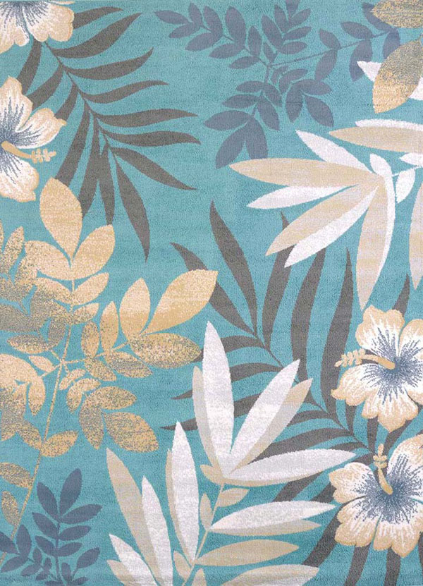 Tropical rugs delectably-yours.com modern textures blue sea garden tropical rug  collection by united weavers IZDZAWU