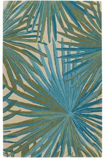 Tropical rugs key west area rug - wool rugs - hand-tufted rugs - tropical rugs RCEKMLC