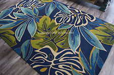 Tropical rugs tropical coastal beach palms blue aqua green indoor outdoor area rug WHIGZNH