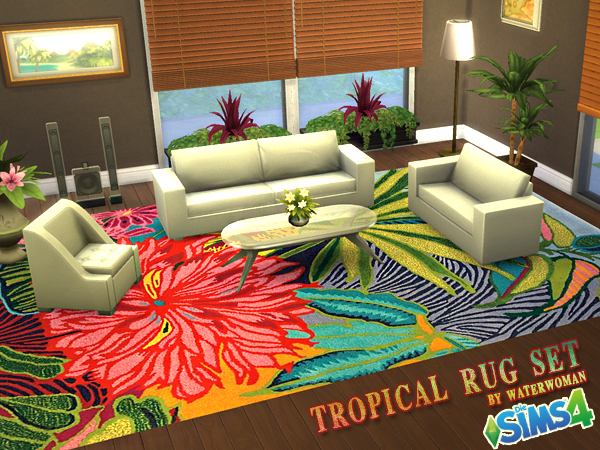 Tropical rugs tropical rugs by waterwoman at akisima UKGFXIV