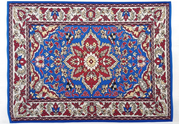 Turkish carpets xlrg woven turkish carpet w/fringe 32x20cm (12x8) NMRRZFA