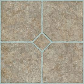 vinyl floor tile style selections chatsworth 12-in x 12-in mosaic peel-and-stick QWJHRPD