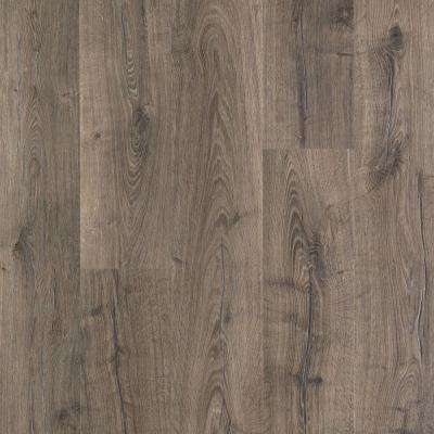Waterproof laminate flooring outlast+ vintage pewter oak 10 mm thick x 7-1/2 in. wide QACSWBY