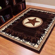 western rugs texas star western cowboy horse lodge area rug-free shipping! ZLAQHWF