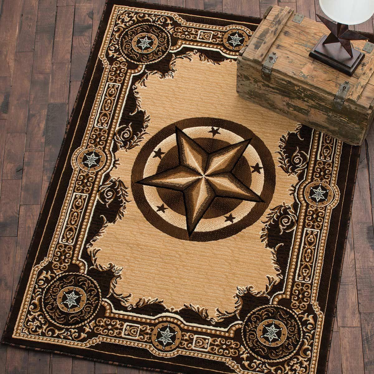 western rugs western star chocolate rug - 2 x 3 MEGZWXZ