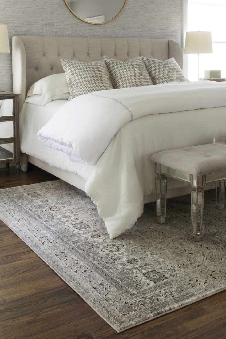 white area rug bedroom how to choose an area rug for your bedroom VGMQZMI