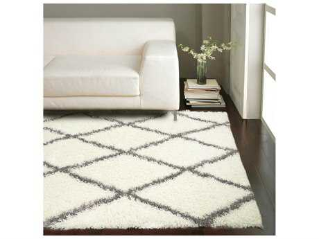 white area rugs nuloom bobo shag white u0026 grey rectangular area rug IKGXJSS
