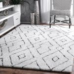 white area rugs peraza hand-tufted