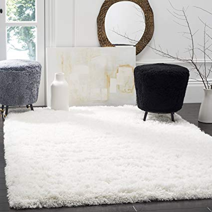 white area rugs safavieh polar shag collection psg800b white area rug, ... TUUPRPR