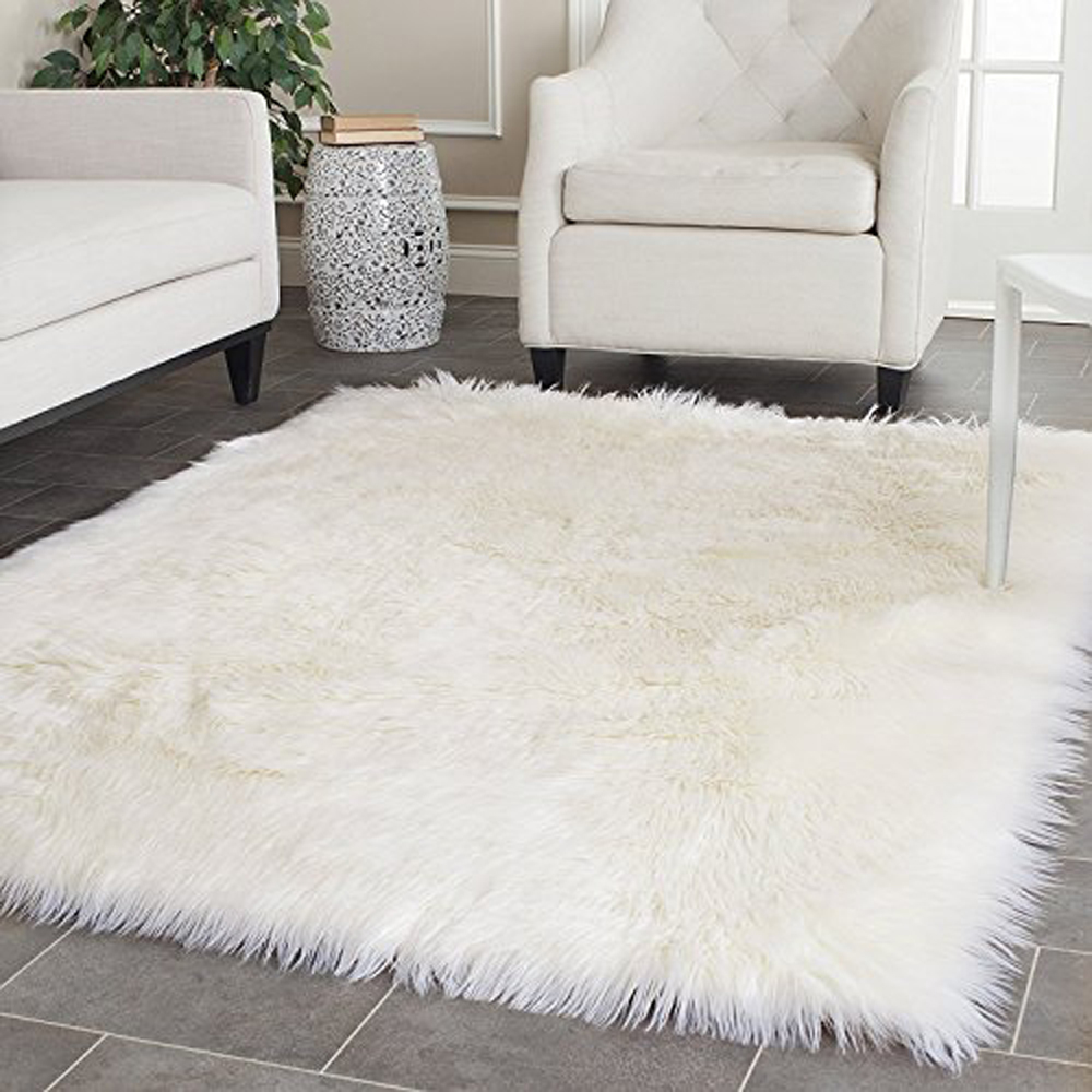 white carpet white faux sheepskin blanket faux fur rug rugs and carpets for living room EXTRVCR