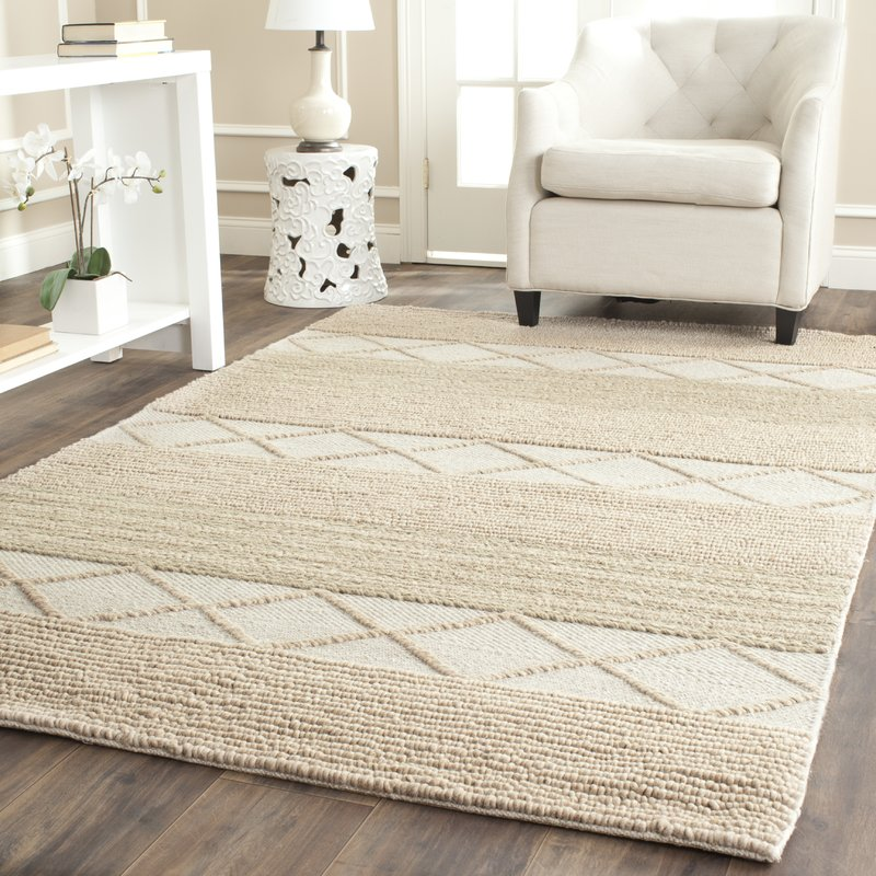 williston highlands beige tufted wool area rug YFXVNZE