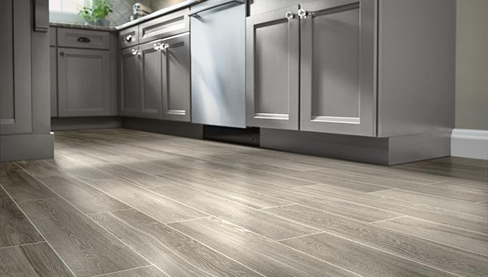 wood tile flooring imitates wood in planks with light, dark or distressed KRDKUUP