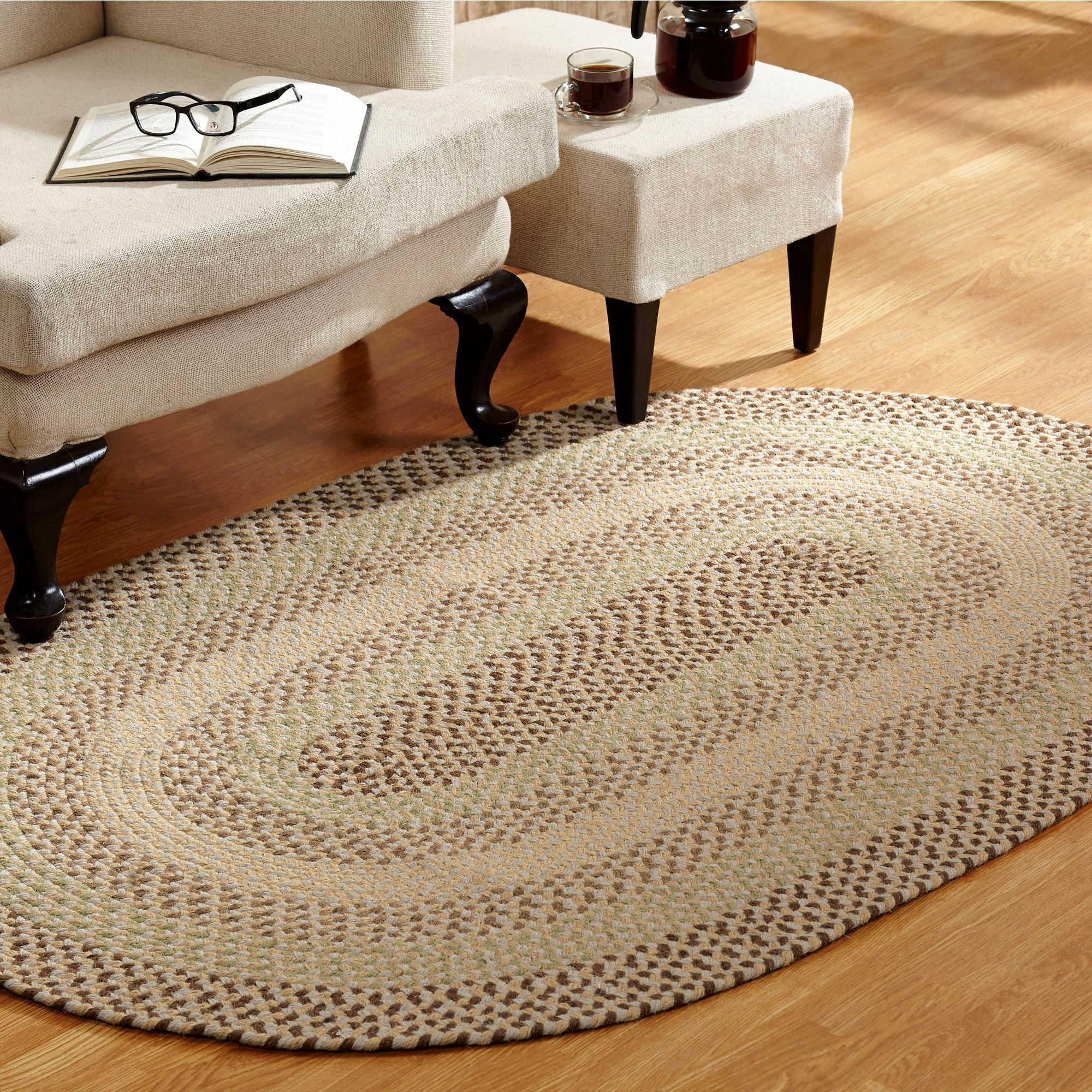 woodbridge braided oval rug VIHLXKT