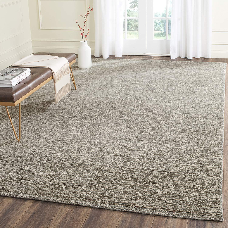 wool area rugs amazon.com: safavieh himalaya collection him311d handmade grey premium wool  area rug (6u0027 DRCLYOL