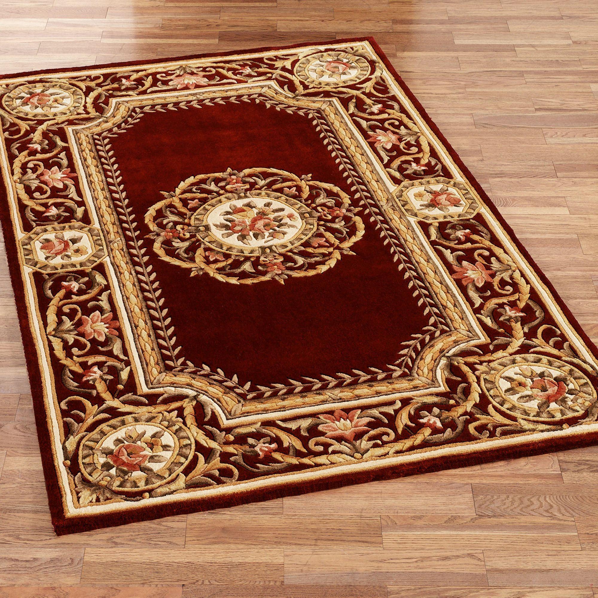 wool area rugs elegant medallion rectangle rug SKCAOLA