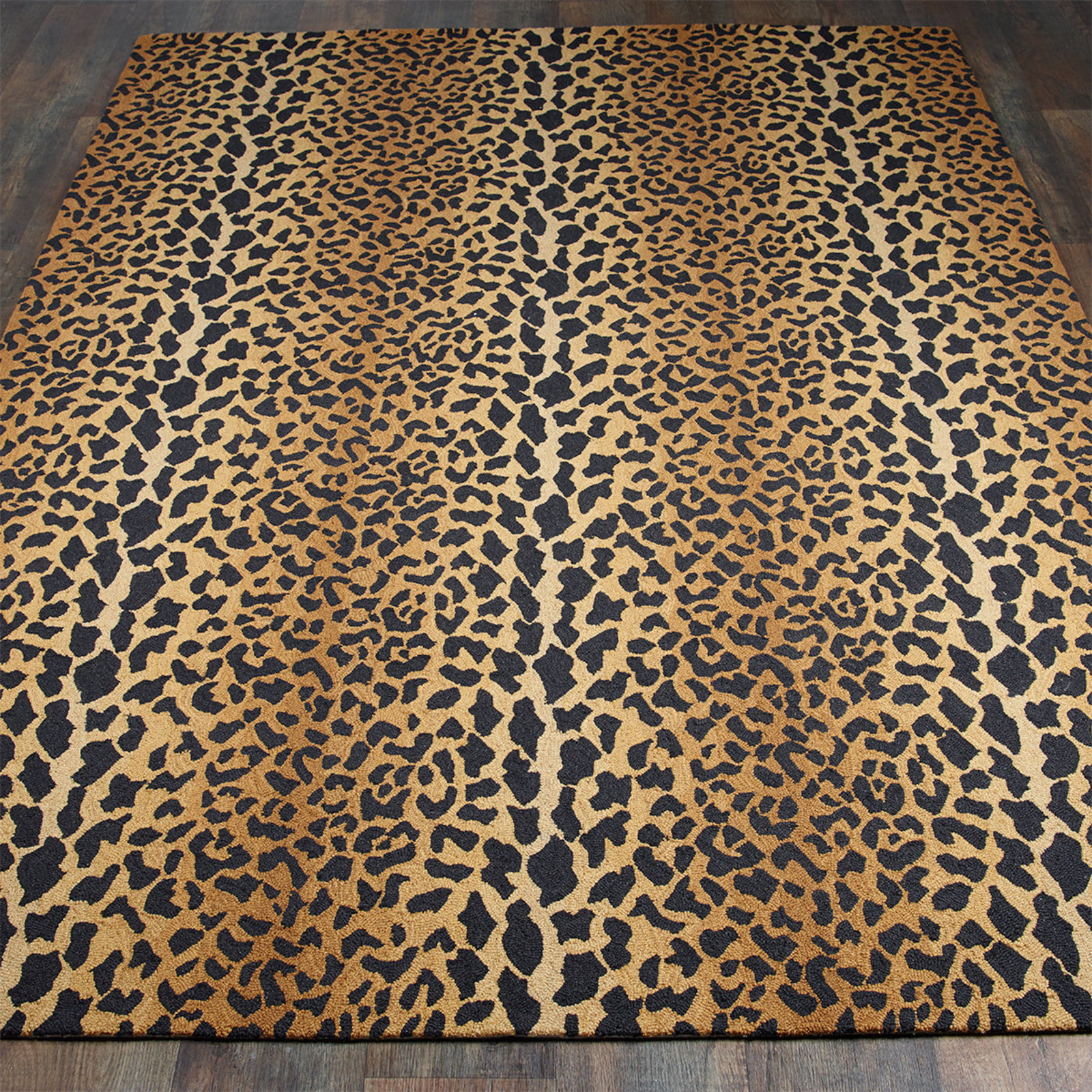 wool leopard rug tan_black TCNDGLE