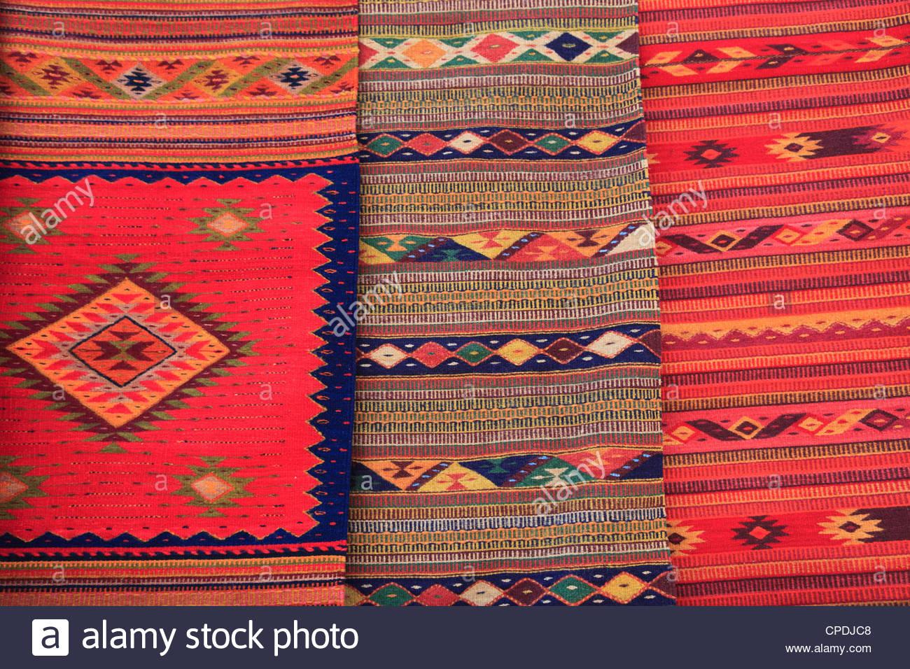 Woven rugs traditional hand woven rugs, oaxaca city, oaxaca, mexico, north america RAWIQOK