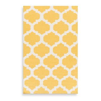 Yellow area rug artistic weavers york harlow 4-foot x 6-foot area rug in yellow AREHNBK