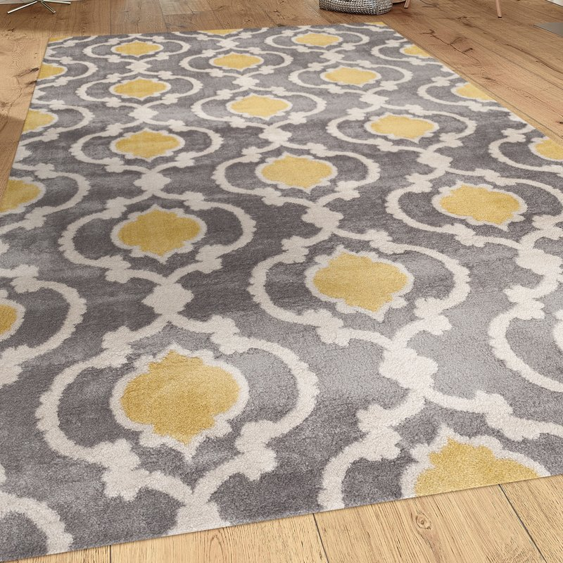 Yellow area rug melrose gray/yellow area rug UTCPZAV