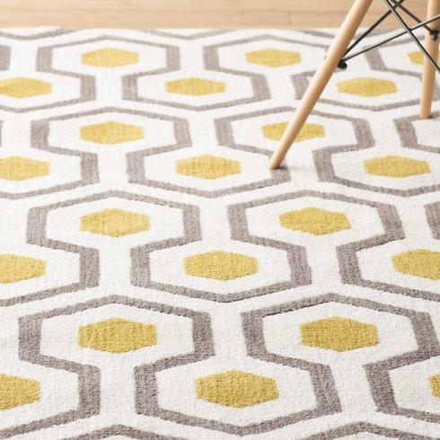 Yellow area rug noam hand-tufted beige/gray/yellow area rug JVFQSTZ
