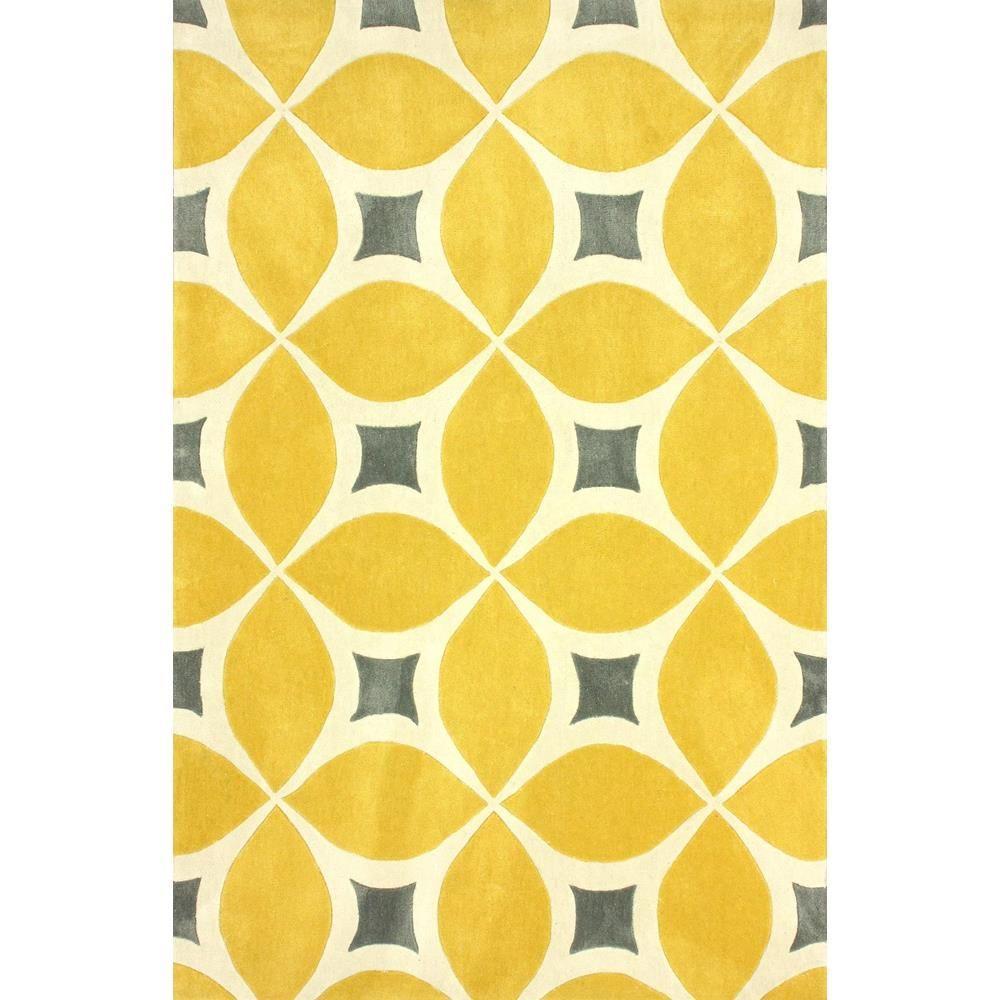 Yellow area rug nuloom gabriela sunflower 5 ft. x 8 ft. area rug CGLPAUT