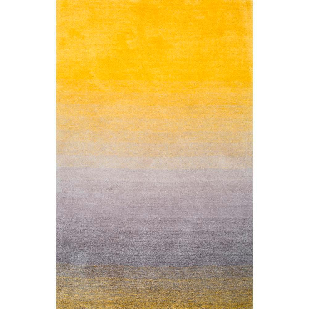 Yellow area rug nuloom ombre shag yellow 5 ft. x 8 ft. area rug PTFDXAE