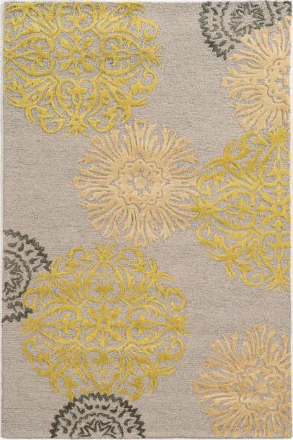 Yellow area rug rizzy eden harbor eh8639 gray, yellow 2u0027 x 3u0027 rug LWWHJRO
