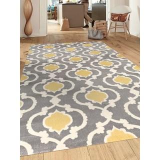 yellow rug porch u0026 den marigny touro trellis grey/ yellow area rug ... WYJYOTN