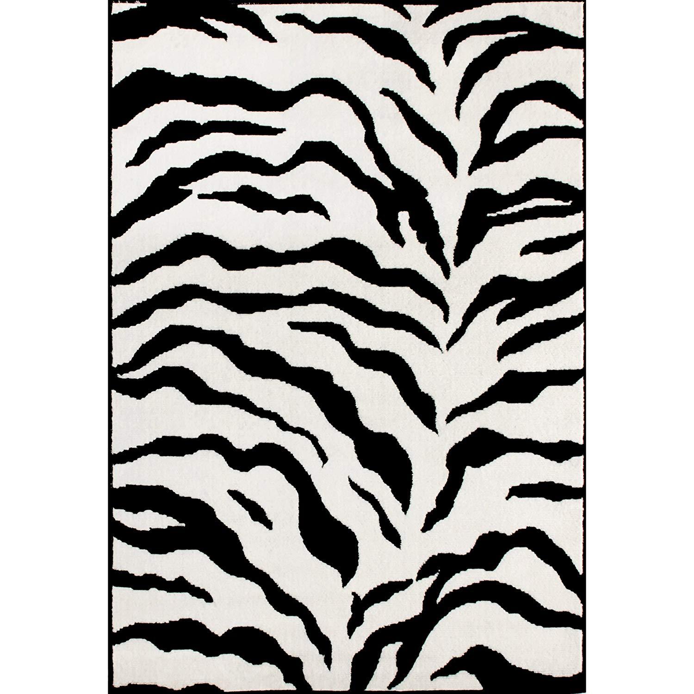 zebra print rugs amazon.com: zebra animal skin print modern carpet black area rug, 3 feet 11 FSVKCYA