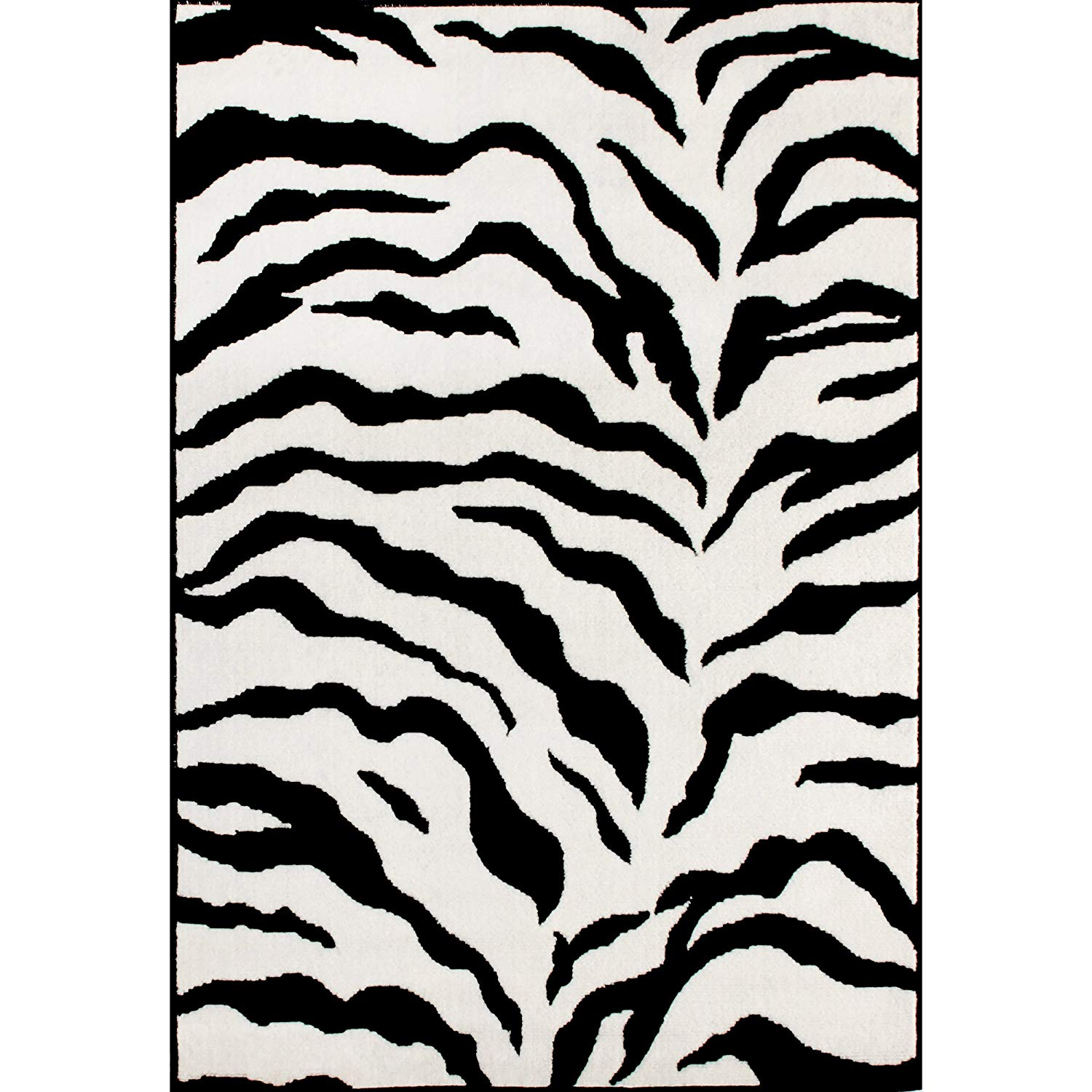 zebra rugs amazon.com: zebra animal skin print modern carpet black area rug, 3 feet 11 IZLJLIA