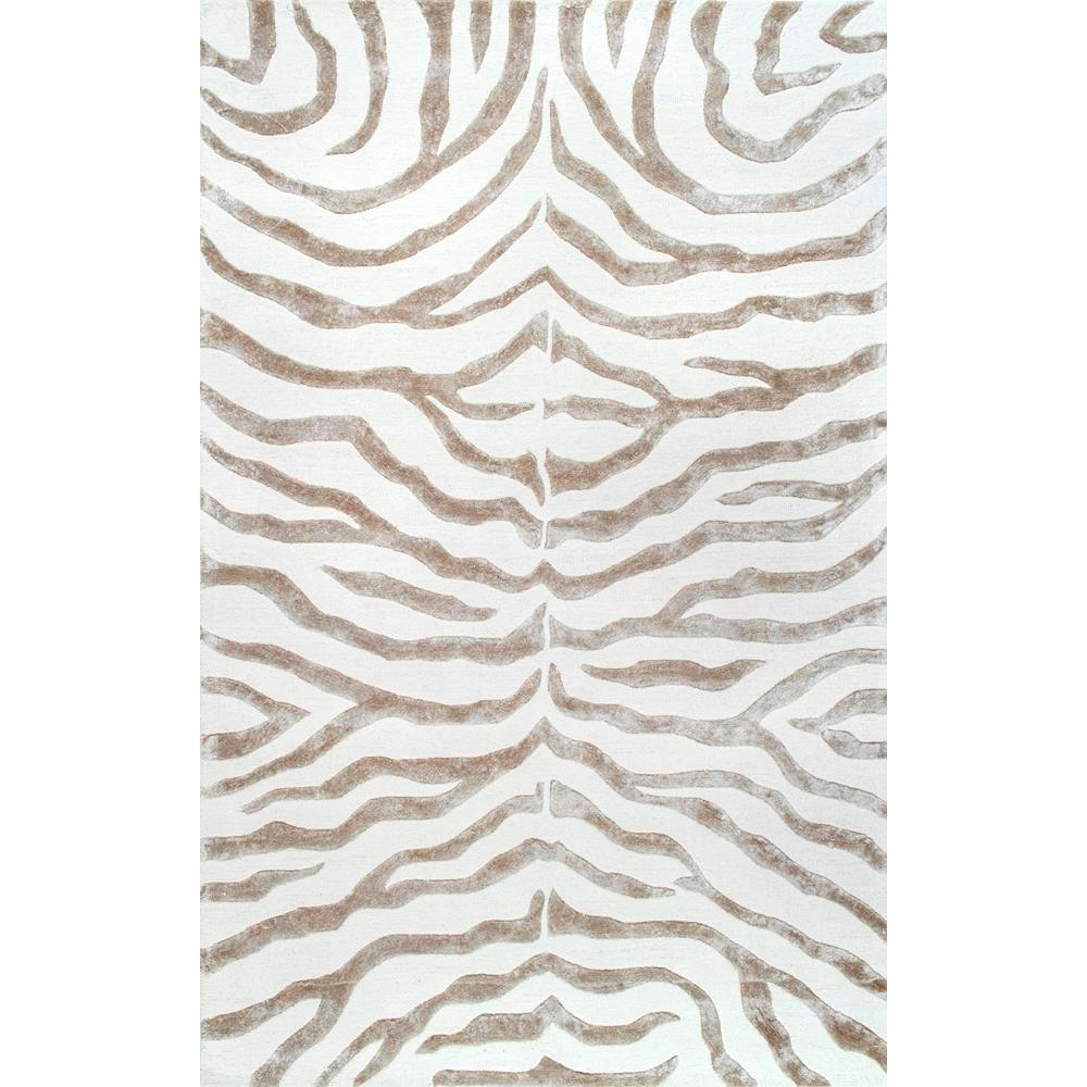zebra rugs nuloom plush zebra grey 8 ft. x 10 ft. area rug BJSMIQT