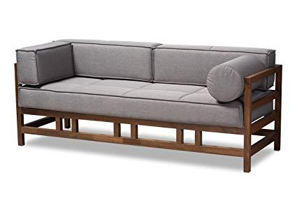 Amazon.com: Baxton Studio Gavina Mid-Century Modern Grey Fabric