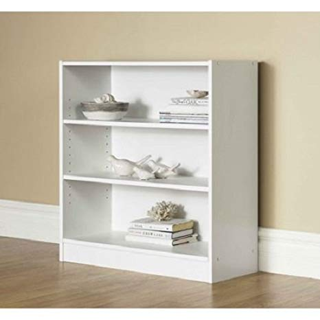Amazon.com: Orion Wide 3-Shelf Bookcase (white): Kitchen & Dining