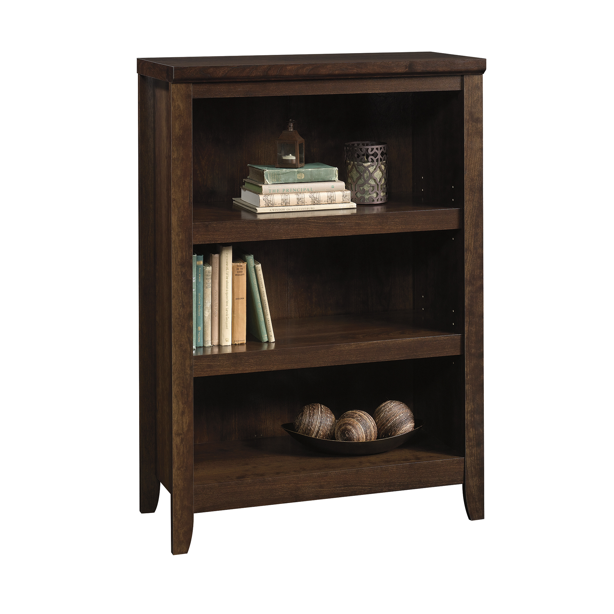 Better Homes & Gardens Parker 3 Shelf Bookcase, Estate Toffee Finish