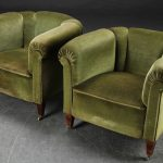 Decorative antique armchairs
