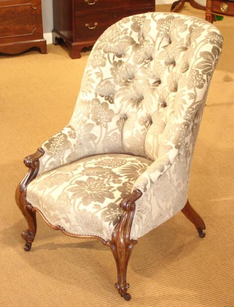 Antique rosewood button back armchair : Antique Armchair UK