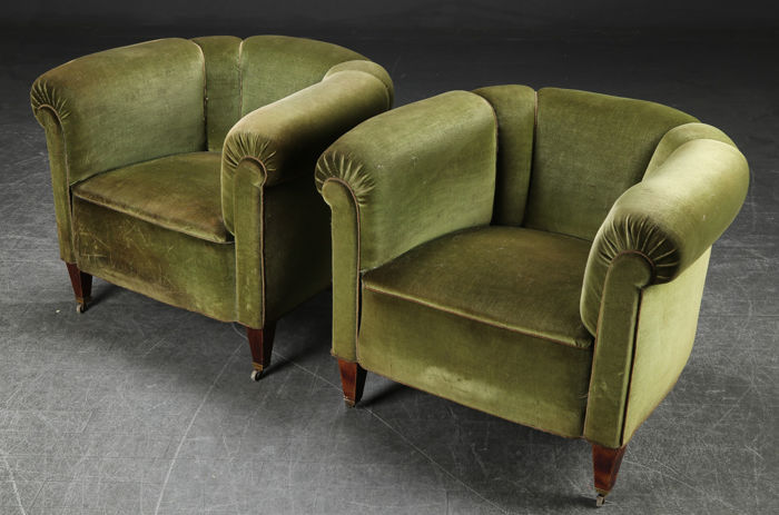 Decorative antique armchairs