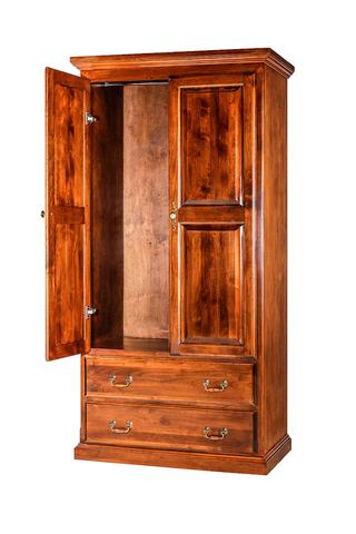 Forest Designs Traditional Antique Wardrobe: 36W X 72H X 21D w/ Two